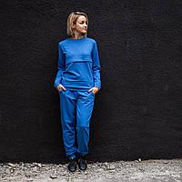 Костюм для годуючих мам синій (Костюм для кормящих мам) Базовый костюм для кормления