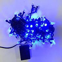 Гирлянда Нить Кристалл LED 200, чёрный провод, синий (1-36), фото 1