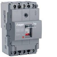 Выключатель автоматический 3p, 16А, 18kA (HDA016L) Hager