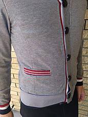 Кардиган мужской, кофта на пуговицах трикотаж AKKL, Турция, фото 2