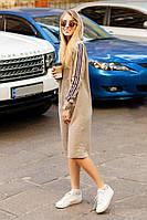 Платье миди. Спортивное платье с лампасами и капюшоном. Разные цвета. Размеры 42-44, 46-48., фото 1
