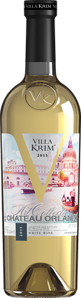 Вино белое полусладкое Villa Krim Chateau Orlando 0.75л, фото 2