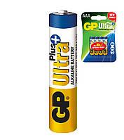 Батарейка щелочная GP 24AUP-U4 Ultra Plus Alkaline LR3 AAA минипальчиковая (блистер)