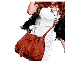 Стильна жіноча сумка хобо на затягуванні, фото 2