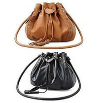 Стильна жіноча сумка хобо на затягуванні, фото 3