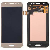 Дисплей (екран) для Samsung J700H, DS Galaxy J7 (2015), J700F + тачскрін, золотистий