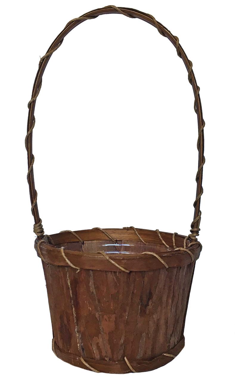 Корзинка из бамбука и коры пальмы 35 х 17 см