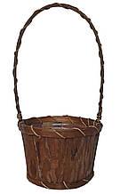 Кошик з бамбука і кори пальми 35 х 17 см