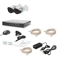 Комплект видеонаблюдения Tecsar IP 2 Out Lux