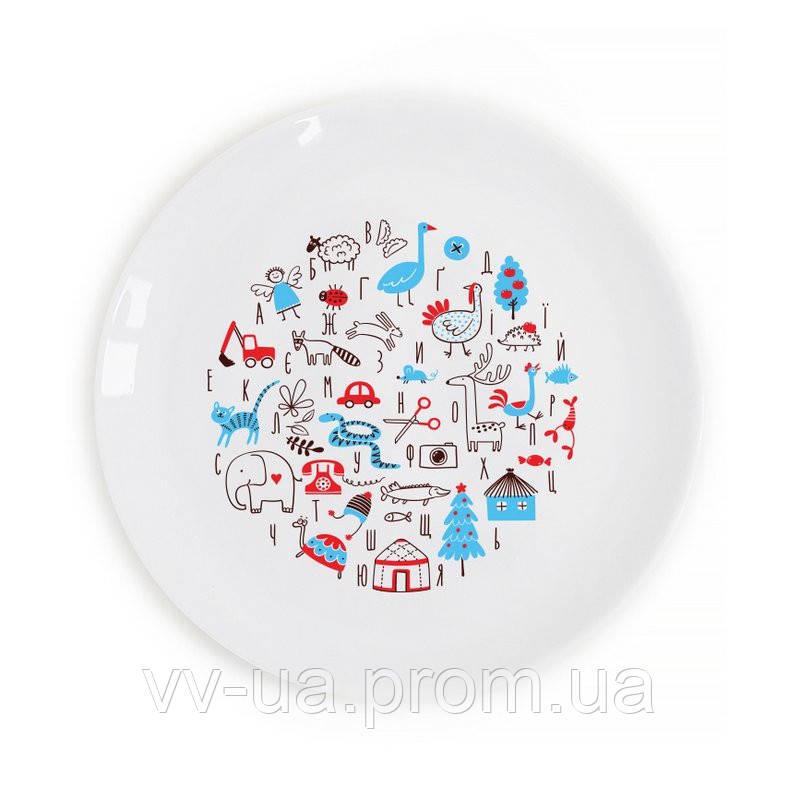 Тарелка детская Orner Азбука, 19 см (orner-0156)