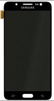 Дисплей (экран) для Samsung J510F Galaxy J5 (2016) + тачскрин, черный, без регулировки яркости