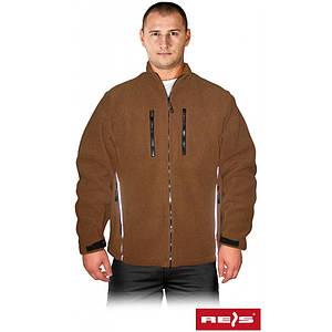 Блуза POLARIS B из флиса, коричневого цвета. REIS