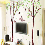 Интерьерная  наклейка на стену - Парные деревья (отличное качество) , фото 2