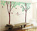 Интерьерная  наклейка на стену - Парные деревья (отличное качество) , фото 3