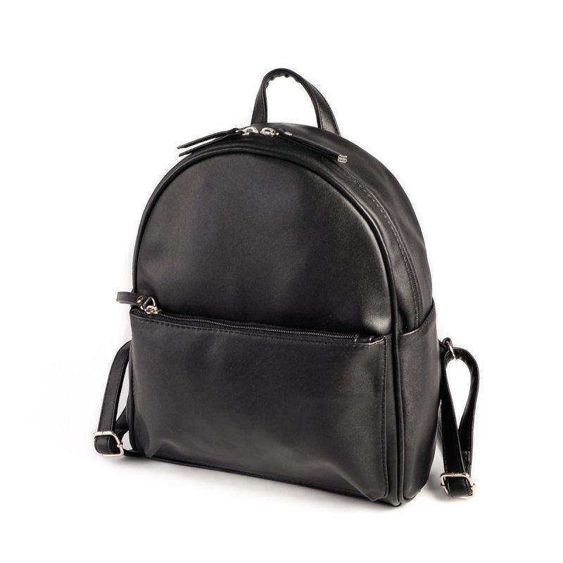 6f206d2c670d Женский рюкзак М132-48 черный городской молодежный на молнии, фото 1