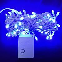 Гирлянда Нить Перламутр LED 100 синий 4 мм, фото 1