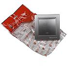 Выключатель с подсветкой (серебряный камень) EH-2183-ST, фото 2