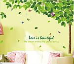 Інтер'єрна наклейка на стіну - велике Зелене дерево (відмінна якість), фото 2