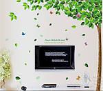 Інтер'єрна наклейка на стіну - велике Зелене дерево (відмінна якість), фото 5