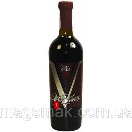 Вино сухое красное Villa Krim Cabernet-Merlot Vintage 0.75л, фото 2
