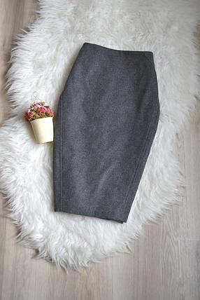 Серая юбка-карандаш Zara, фото 2