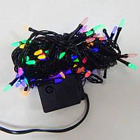Гирлянда Нить Семечка Перламутр LED 100 мульти, чёрный провод (1-44)