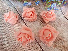 Бутоны роз из латекса, цвет персиковый, d 5 см