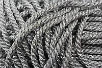 Канат декоративный 10мм (50м) люрекс серебро