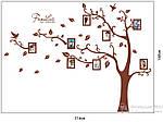 Интерьерная наклейка на стену - Дерево с фоторамками коричневое (отличное качество), фото 3