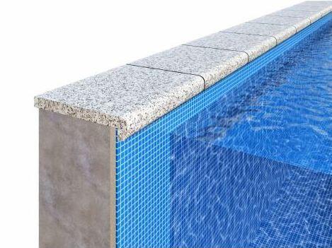 Копинговый камень из гранита для бассейна