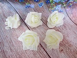 Бутоны роз из латекса, цвет кремовый, d 5 см