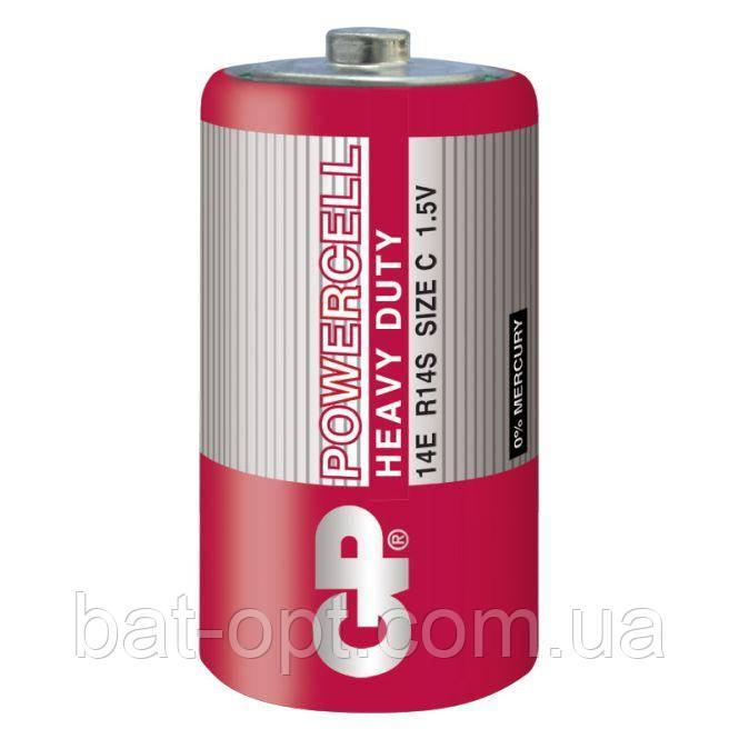 Батарейка солевая GP 14Е-S2 Powercell R14 C (трей)