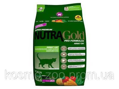 Сухой корм Nutra Gold Hairball Control для вывода шерсти, для котов, 7.5 кг