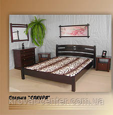 """Кровать двуспальная """"Сакура"""". Массив - сосна, ольха, береза, дуб., фото 3"""