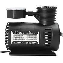 Ϟ Автомобильный компрессор Lesko 300 PSI автокомпрессор от прикуривателя универсальный, фото 3