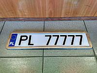 Рамка номерного знака (хром)