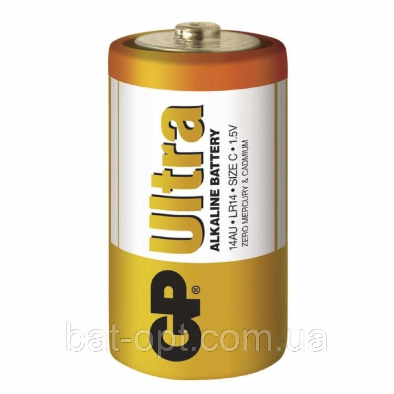 Батарейка щелочная GP 14AU-S2 Ultra Alkaline LR14 C (трей)