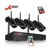 Комплект WiFi видеонаблюдения Anran 4сh (AR-K04W13-03NB), фото 1