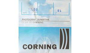 Линза для очков CORNING минеральная фотохромная