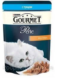 Консервы для кошек с тунцом GOURMET Perle, 85 гр.*24шт.