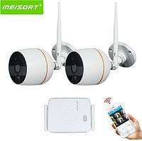 Комплект WiFi видеонаблюдения Meisort 2ch (Mini Kit 20)