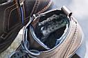 Зимние ботинки броги мужские коричневые кожаные размер 40, 41, 42, 43, 44, 45, фото 4