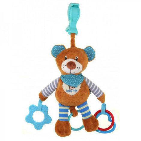 Игрушка подвеска c вибро Мишка голубой Baby Mix STK16300B, фото 1