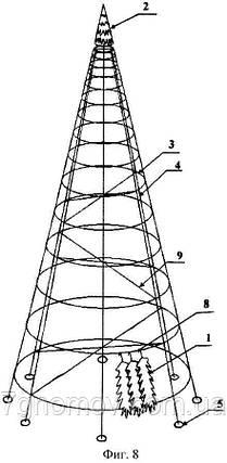 Ель искусственная каркасная 10 м., фото 2