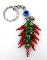 Перчик красный стекло, брелок на ключи или сумку, фото 1