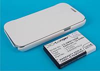 Аккумуляторная батарея CameronSino для смартфона Samsung Galaxy Note 2, 6200mAh/22.94Wh, с крышкой-флипом белого цвета
