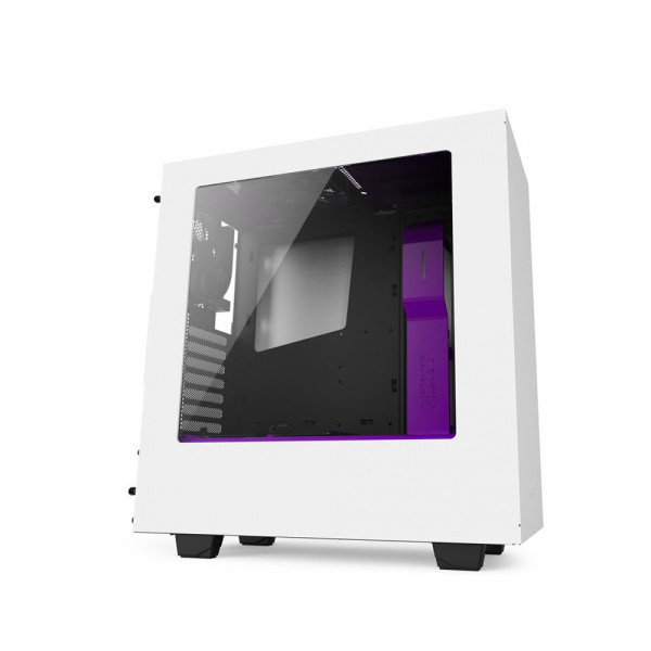 "Корпус NZXT S340 Matte White-Purple (CA-S340W-W3) ""Over-Stock"""