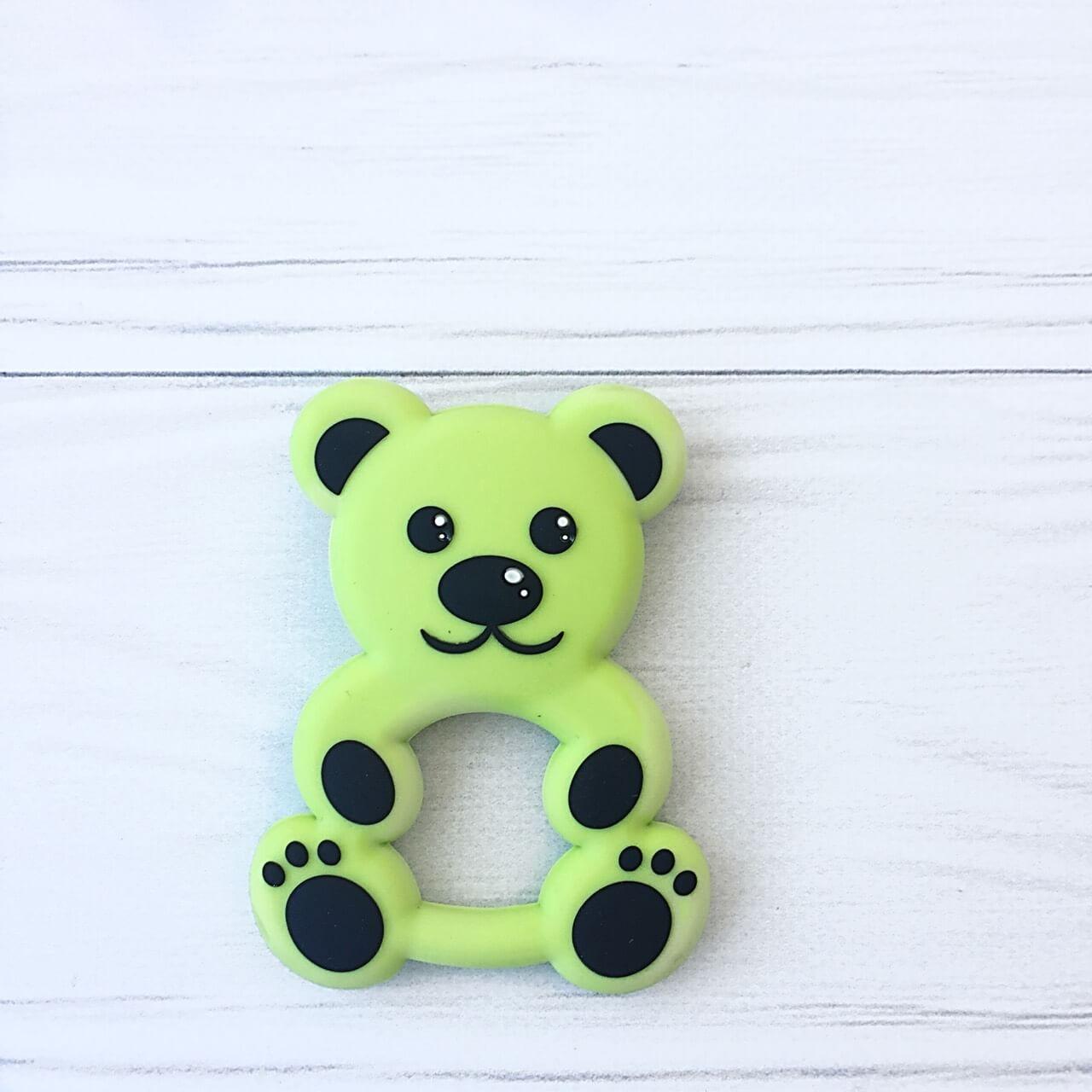Медвежонок (салатовый) силиконовый прорезыватель для зубов