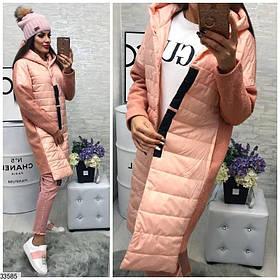 Очень красивое демисезонное пальто плащевка и букле спинка 42 44 46
