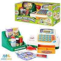 Кассовый аппарат детский на батарейках свет калькулятор звуки 7254